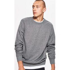 Bluzy męskie: Gładka bluza basic - Szary