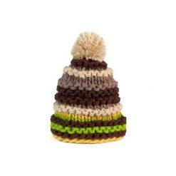 Czapka damska kolorowa na zimę  brązowa. Brązowe czapki zimowe damskie marki Art of Polo, na zimę, w kolorowe wzory. Za 30,84 zł.