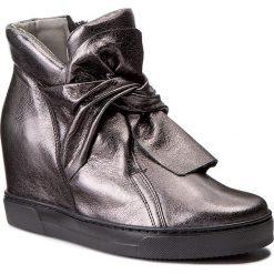 Sneakersy EKSBUT - 77-4645-I27-1G Nikiel. Szare sneakersy damskie Eksbut, ze skóry. W wyprzedaży za 269,00 zł.