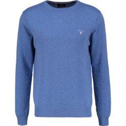 GANT CREW Sweter blue melange. Niebieskie swetry klasyczne męskie marki GANT. Za 419,00 zł.