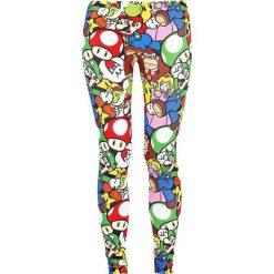 Spodnie damskie: Super Mario Allstars Legginsy wielokolorowy