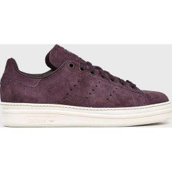 Adidas Originals - Buty Stan Smith New Bold. Brązowe buty sportowe damskie marki adidas Originals, z bawełny. W wyprzedaży za 399,90 zł.