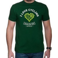 Koszulka T-SHIRT. I love cycling. Szare t-shirty męskie z nadrukiem Pakamera, m. Za 85,00 zł.
