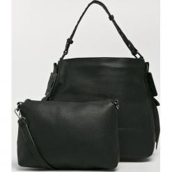 Answear - Torebka Nomad. Czarne torebki klasyczne damskie marki ANSWEAR, w paski, z materiału, duże. Za 149,90 zł.