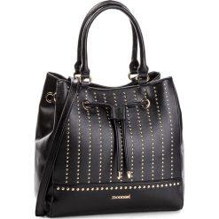 Torebka MONNARI - BAG7500-020 Black. Brązowe torebki klasyczne damskie marki Monnari, w paski, z materiału, średnie. W wyprzedaży za 209,00 zł.