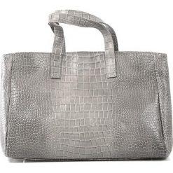 """Skórzany shopper bag """"Johanne"""" w kolorze szarym - 40 x 27 x 17 cm. Szare shopper bag damskie Spéciale Maroquinerie, ze skóry. W wyprzedaży za 431,95 zł."""