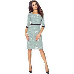 Sukienki balowe: Bonita– elegancka sukienka podkreślona paskiem szary j. łatki