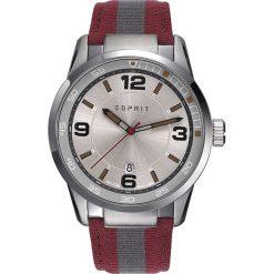 Zegarki męskie: Zegarek kwarcowy w kolorze czerwono-szaro-srebrnym