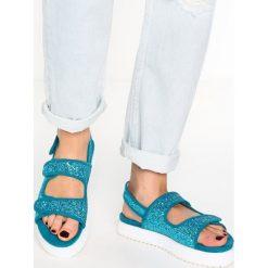 Rzymianki damskie: Shellys London DAMARA Sandały na platformie blue glitter