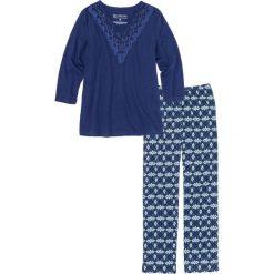 Piżamy damskie: Piżama bonprix kobaltowy z nadrukiem