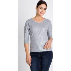 Bluzki damskie: Szara bluzka z połyskiem QUIOSQUE