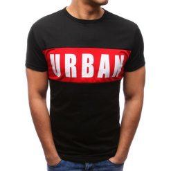 T-shirty męskie z nadrukiem: T-shirt męski z nadrukiem czarny (rx2701)