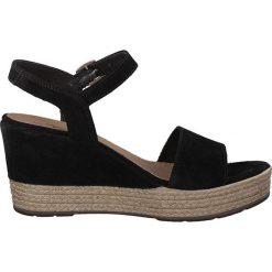Rzymianki damskie: Skórzane sandały na koturnie Vivana