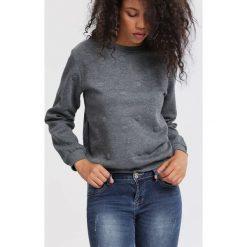 Bluzy rozpinane damskie: Ciemnoszara Bluza Half A Minute