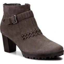 Botki GABOR - 52.863.31 Elephant. Szare buty zimowe damskie marki Gabor, z materiału. W wyprzedaży za 269,00 zł.
