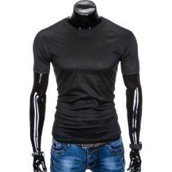 T-SHIRT MĘSKI BEZ NADRUKU S883 - CZARNY. Czarne t-shirty męskie z nadrukiem Ombre Clothing, m. Za 14,99 zł.