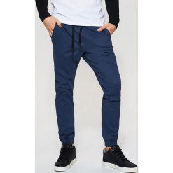 Spodnie męskie: Joggery z kieszeniami – Niebieski