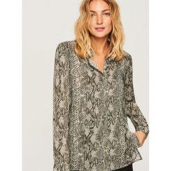 Koszula ze zwierzęcym motywem - Szary. Szare koszule damskie marki DOMYOS, z bawełny. Za 99,99 zł.