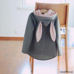 Bluzy chłopięce: Bluza z uszami na zamek - dla dorosłych