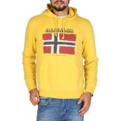 Napapijri Bluza Męska M Żółta. Szare bluzy męskie rozpinane marki Napapijri, l, z materiału, z kapturem. Za 485,00 zł.