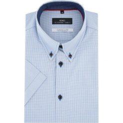 KOSZULA SERGIO slim 15-12-13-K. Niebieskie koszule męskie na spinki Giacomo Conti, na lato, m, w kratkę, z materiału, button down, z krótkim rękawem. Za 199,00 zł.