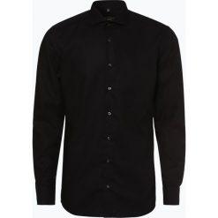 Eterna Slim Fit - Koszula męska niewymagająca prasowania, czarny. Czarne koszule męskie na spinki Eterna Slim Fit, m, z bawełny. Za 229,95 zł.