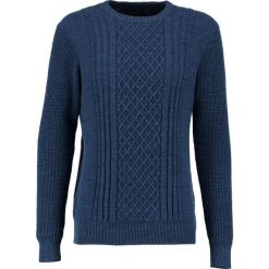 Kardigany męskie: GStar AFFNI CABLE R KNIT L/S Sweter imperial blue heather