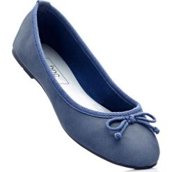 Baleriny bonprix niebieski dżins. Niebieskie baleriny damskie lakierowane bonprix. Za 27,99 zł.