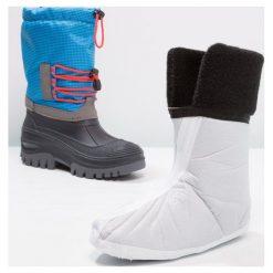 CMP KIDS AHTO WP Śniegowce river. Niebieskie buty zimowe damskie CMP, z materiału. W wyprzedaży za 135,20 zł.