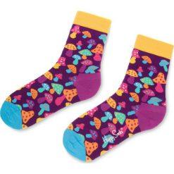 Skarpety Wysokie Unisex HAPPY SOCKS - SHR1001-5000 Fioletowy Kolorowy. Fioletowe skarpetki damskie marki FOUGANZA, z bawełny. Za 34,90 zł.