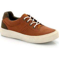 Buty sportowe z materiału syntetycznego 26-40. Brązowe buty sportowe chłopięce La Redoute Collections, z bawełny, na sznurówki. Za 102,86 zł.
