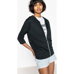 Bluzy rozpinane damskie: Bluza z kapturem, marszczenia po bokach