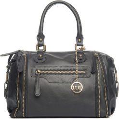 Torebki klasyczne damskie: Skórzana torebka w kolorze czarnym – 34 x 25 x 15 cm