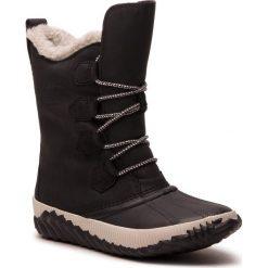 Śniegowce SOREL - Out N About Plus Tall NL3146 Black 010. Czarne buty zimowe damskie Sorel, z gumy, przed kolano, na wysokim obcasie. Za 569,99 zł.