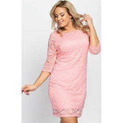 Sukienki hiszpanki: Łososiowa Sukienka Sensual