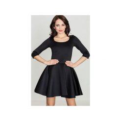 Sukienka K227 Czarny. Szare sukienki na komunię marki Lenitif, l. Za 139,00 zł.