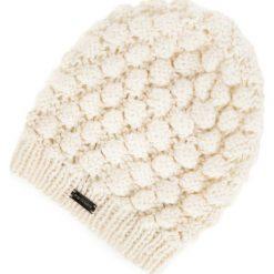 83-HF-015-0 Czapka damska. Brązowe czapki damskie Wittchen, na zimę, z materiału. Za 39,00 zł.
