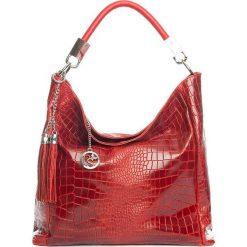 Torebki klasyczne damskie: Skórzana torebka w kolorze czerwonym – 44 x 55 x 15 cm