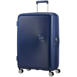 American Tourister Walizka Soundbox 67, Navy. Niebieskie walizki marki American Tourister. W wyprzedaży za 549,00 zł.