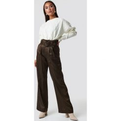 Spodnie damskie: Gestuz Spodnie Strika - Brown