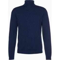Finshley & Harding - Sweter męski – Pima-Cotton/Kaszmir, niebieski. Czarne swetry klasyczne męskie marki Finshley & Harding, w kratkę. Za 249,95 zł.