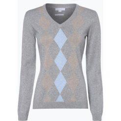 Brookshire - Sweter damski, szary. Szare swetry klasyczne damskie brookshire, s, z dekoltem karo. Za 179,95 zł.