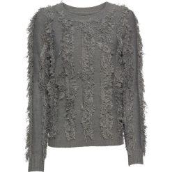 Swetry klasyczne damskie: Sweter dzianinowy bonprix szary melanż