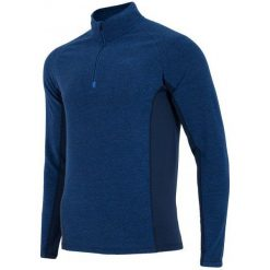 4F Męska Bluza Termoaktywna H4Z17 bimp002 Granatowy Melanż S. Białe bluzy męskie rozpinane marki B'TWIN, m, z elastanu, z krótkim rękawem. W wyprzedaży za 63,00 zł.