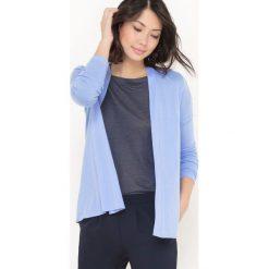 Sweter rozpinany z długim rękawem. Szare kardigany damskie marki La Redoute Collections, m, z bawełny, z kapturem. Za 62,96 zł.