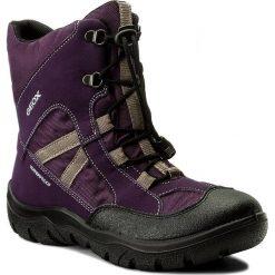 Kozaki dziewczęce: Śniegowce GEOX – J Clady G. B Wpf B J745NB 05011 C8H1F D Dk Purple.Grey
