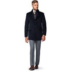 Płaszcz Granatowy Teofilo. Niebieskie płaszcze na zamek męskie LANCERTO, na jesień, m, z bawełny, eleganckie. Za 799,90 zł.
