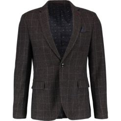 Marynarki męskie slim fit: Burton Menswear London OVERCHECK Marynarka brown