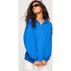 Bluza z kapturem - Niebieski. Niebieskie bluzy z kapturem damskie marki Reserved, l. Za 99,99 zł.