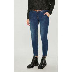 Medicine - Jeansy Suffron Spice. Niebieskie jeansy damskie rurki MEDICINE, w paski, z bawełny. Za 139,90 zł.